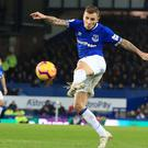 Everton's Lucas Digne scored his first goal for the club against Watford (Peter Byrne/PA).