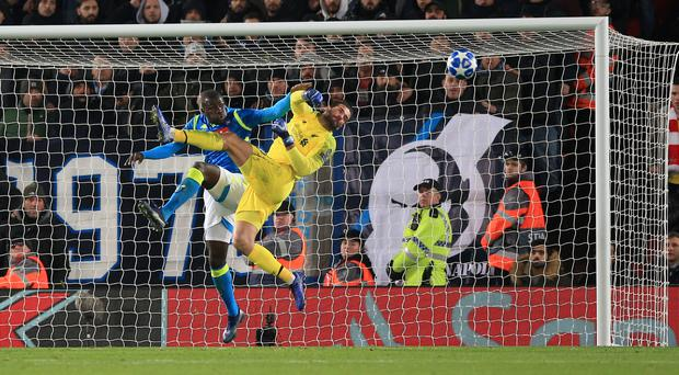Goalkeeper Alisson Becker has given Liverpool a confidence boost (Peter Byrne/PA)