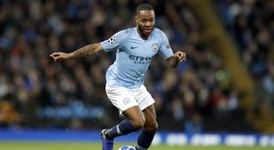 Raheem Sterling was soon back in the thick of the action. (Martin Rickett/PA Images)