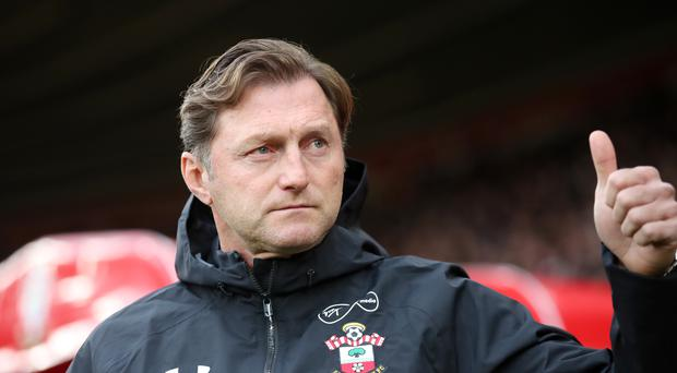 Southampton manager Ralph Hasenhuttl during the Premier League match at St Mary's Stadium, Southampton.