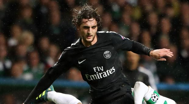 Liverpool are said to be interested in Paris St Germain's Adrien Rabiot (Andrew Milligan/PA)