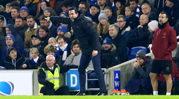 Image result for unai emery kick water bottle