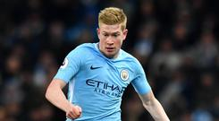 City will give a late fitness check to Kevin De Bruyne (Anthony Devlin/PA)