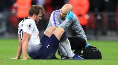 Harry Kane damaged ankle ligaments in Sunday's defeat to Manchester United (Mike Egerton/PA).