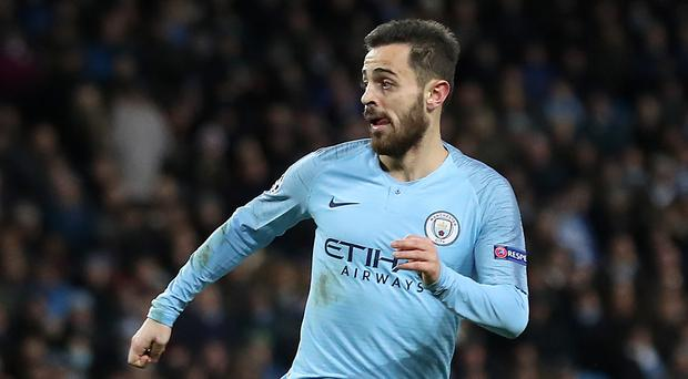 Bernardo Silva has hailed the depth of Manchester City's squad (Martin Rickett/PA)