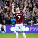 Marko Arnautovic wants to bid farewell to West Ham (Yui Mok/PA)