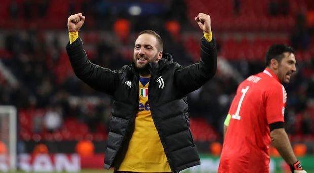 Gonzalo Higuain is expected to join Chelsea (John Walton/PA)