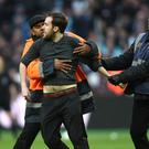 West Ham failed to control their supporters as some invaded the pitch during last season's defeat to Burnley (Daniel Hambury/PA)