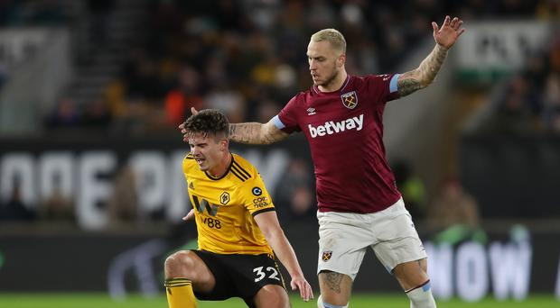 West Ham's Marko Arnautovic suffered a foot injury against Wolves (David Davies/PA)