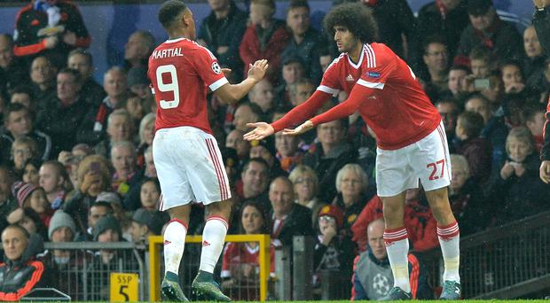 Anthony Martial has committed to Manchester United as Marouane Fellaini heads for the exit (Martin Rickett/PA)