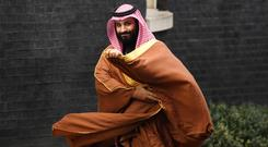 Saudi Arabia's crown prince Mohammad bin Salman has dismissed reports he is to launch a takeover bid of Manchester United (Victoria Jones/PA)
