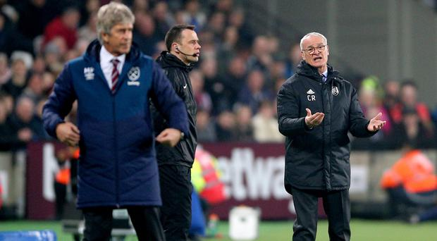 Claudio Ranieri (right) was unhappy with Javier Hernandez's goal (Nigel French/PA)