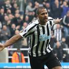 Newcastle's Salomon Rondon celebrates scoring his side's first goal (Owen Humphreys, PA)