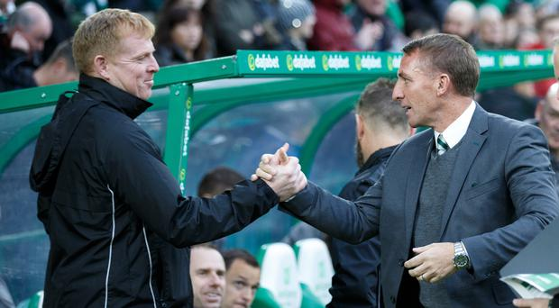 Neil Lennon (left) has returned to Celtic after Brendan Rodgers moved to Leicester.