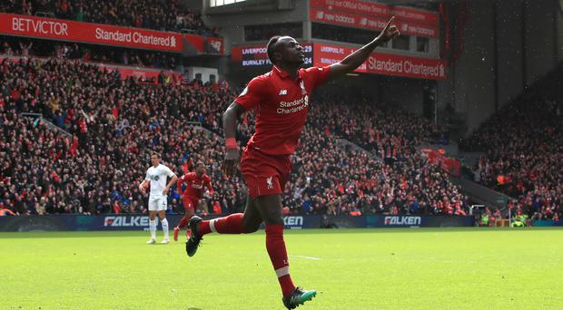 Sadio Mane is Liverpool's in-form goalscorer (Peter Byrne/PA)