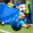 Colombia goalkeeper David Ospina is on loan at Napoli from Arsenal (Adam Davy/PA Images)