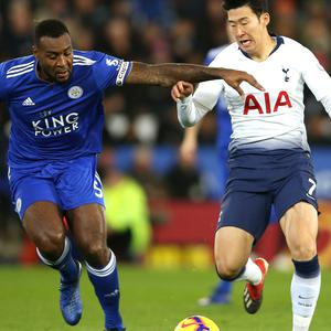 Wes Morgan, left, has made 19 Premier League appearances this season for Leicester (Nigel French/PA)
