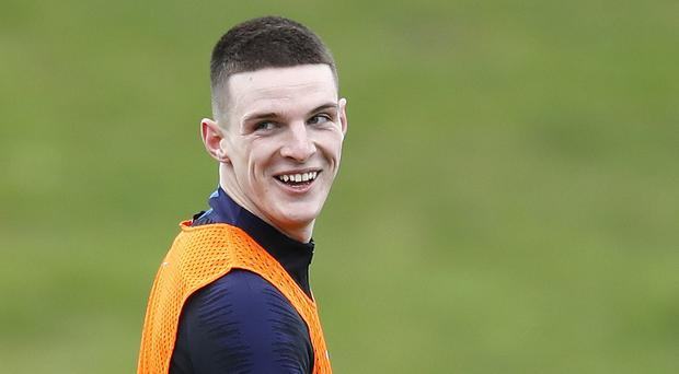 West Ham midfielder Declan Rice is relishing his time with England (Martin Rickett/PA)