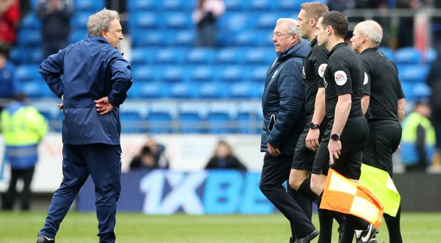 Neil Warnock was furious after Sunday's defeat (Nick Potts/PA)