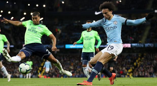 Leroy Sane was on target as Manchester City beat Cardiff (Martin Rickett/PA)