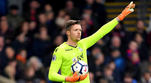 Crystal Palace goalkeeper Wayne Hennessey had been photographed during a team night out (Dominic Lipinski/PA)