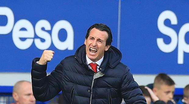 Arsenal manager Unai Emery insists their top-four destiny remains in their own hands (Peter Byrne/PA)