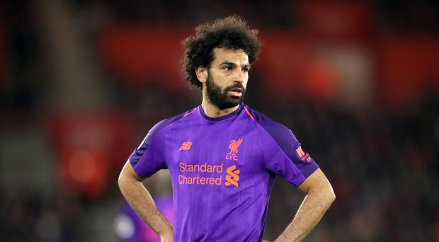 Liverpool's Mohamed Salah during the Premier League match at St Mary's Stadium, Southampton (Adam Davy/PA)