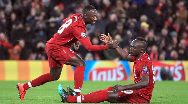 Liverpool's summer signing Naby Keita has benefited from help from best friend Sadio Mane (Peter Byrne/PA)