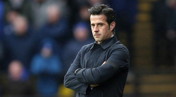 Marco Silva's Everton have won their last three fixtures (Nigel French/PA)