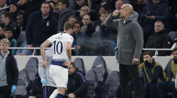 """Harry Kane suffered """"significant lateral ligament"""" damage against Manchester City (Frank Augstein/AP)"""