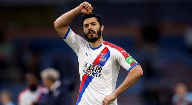 Crystal Palace defender James Tomkins has undergone groin surgery (Nigel French/PA)