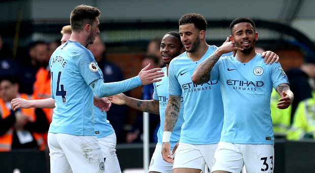 Manchester City impressed boss Pep Guardiola with their display at Crystal Palace (Steven Paston/PA).