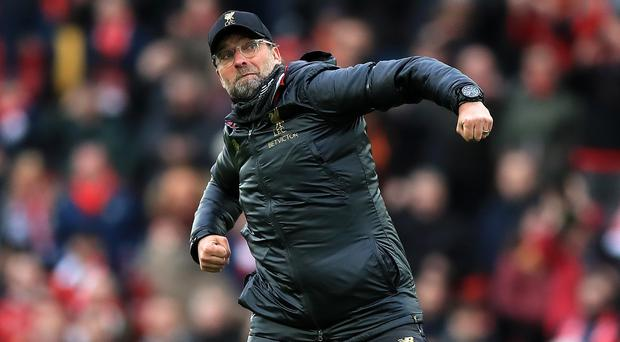 Jurgen Klopp was thrilled with another victory (Peter Byrne/PA)