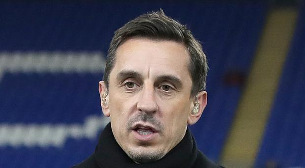 Gary Neville was furious after Manchester United's heavy defeat at Everton (Nick Potts/PA)