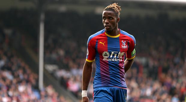 Wilfried Zaha was on the scoresheet during Palace's win at Arsenal (Isabel Infantes/PA)