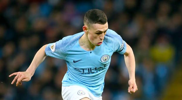 Phil Foden impressed for Manchester City against Tottenham (Richard Sellers/PA)