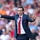 Unai Emery, pictured, has insisted he will keep rotating his Arsenal squad (Bradley Collyer/PA)