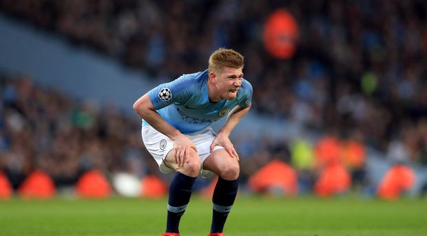 Kevin De Bruyne will miss the Manchester derby (Mike Egerton/PA)
