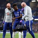 Chelsea's Callum Hudson-Odoi could require surgery to repair his ruptured Achilles tendon (Adam Davy/PA)