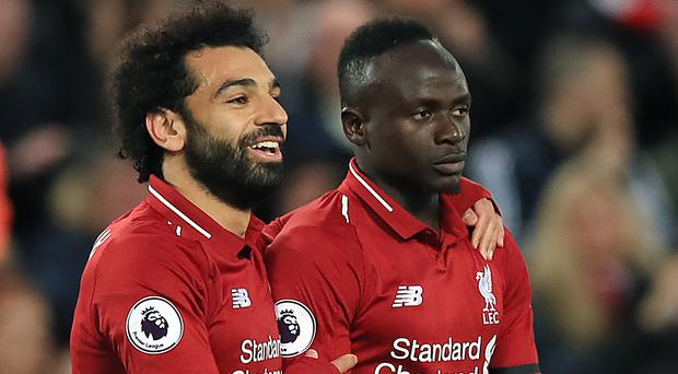 Liverpool's Mohamed Salah and Sadio Mane are the Premier League's leading two scorers (Peter Byrne/PA)