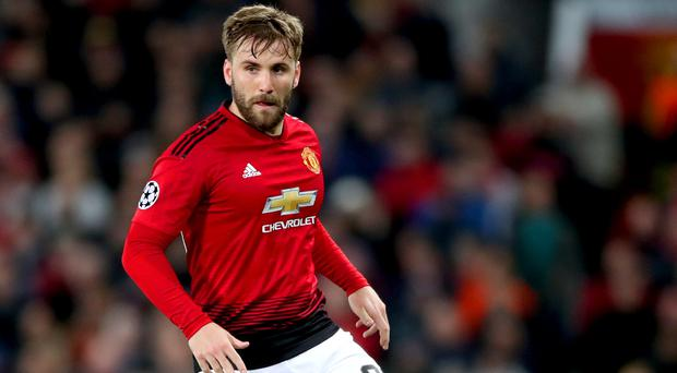 Luke Shaw was the most conspicuous absentee just a week after being crowned Player of the Year for Manchester United (Nick Potts/PA)