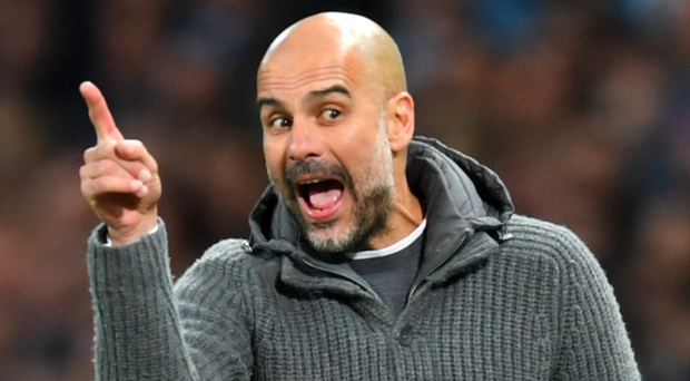 Making point: Pep Guardiola could become third Spaniard to win the FA Cup as a boss