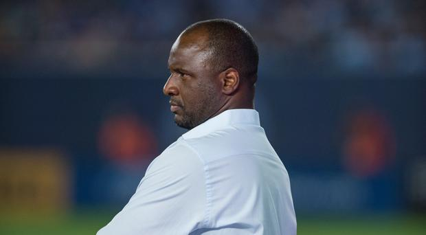 Patrick Vieira has been described as a future Arsenal boss by the club's former manager Arsene Wenger (MLS/Handout/PA)