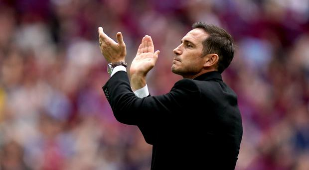 Frank Lampard dismissed Chelsea speculation following Derby's play-off final defeat (John Walton/PA)