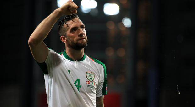 Shane Duffy's 85th-minute header snatched a draw from the jaws of defeat at the Telia Parken Stadium (Bradley Collyer/PA)