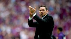 Chelsea are expected to seek talks with Derby over Frank Lampard, pictured (John Walton/PA)