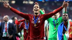 Virgil Van Dijk is hungry for more success after achieving his dream of winning the Champions League (Mike Egerton/PA)