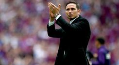 Former Chelsea midfielder Frank Lampard is the favourite to be their next manager (John Walton/PA)