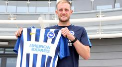 Matt Clarke has joined Brighton from Portsmouth. (Brighton and Hove Albion FC)