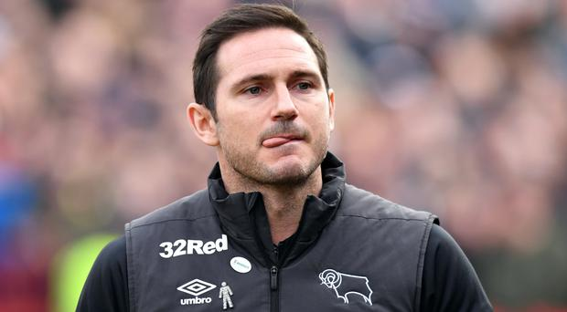 Derby manager Frank Lampard is set for talks with Chelsea (Anthony Devlin/PA)